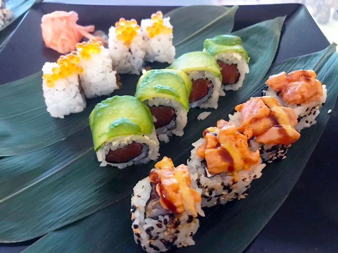 Sushi e sashimi alla trota